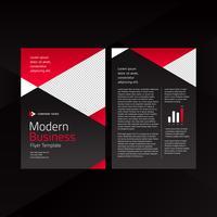 Rode moderne zaken flyer sjabloon vector