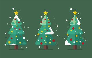 halverwege de eeuw kerstboom vector