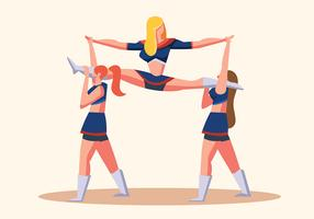 cheerleader vector