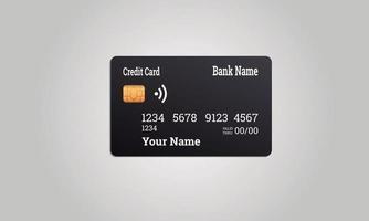 zwarte creditcard met witte letters vector