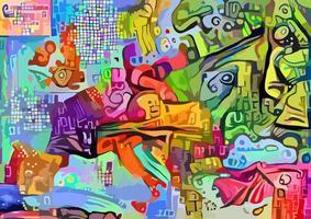 kleurrijke abstracte kaart van europa vector