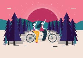 tandem fiets vol 2 vector