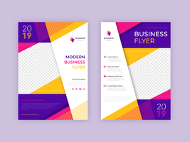 Moderne zakelijke folder sjabloon