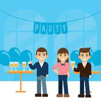 Partijen en het verzamelen van vectorontwerp