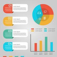 Vlakke bedrijfsmarketing grafiekelementen