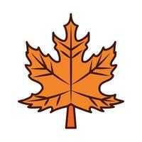 esdoornblad gebladerte herfst lijn en vul icoon vector