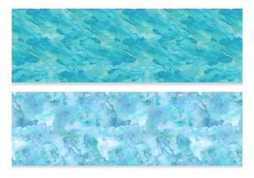 Aquarel stijl vector banners