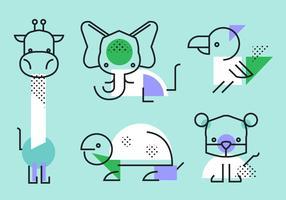 Bstract Simple geometrische vorm dieren Vector