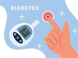diabetes meter test vector