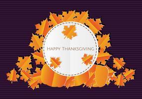 Papercraft Thanksgiving achtergrond vector