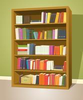 Bibliotheek Boekenplank vector