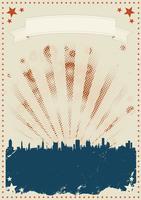 Grunge vierde van juli Poster vector