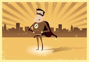 Vintage Retro Super Hero - Mannelijk vector