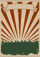 Cool vintage Amerikaanse poster vector