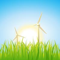Lente en zomer windmolens vector