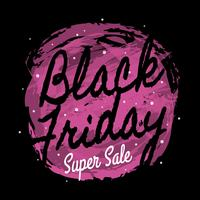 Artistiek Black Friday-posterontwerp
