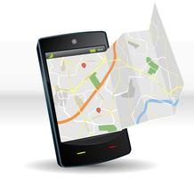 Stratenkaart op mobiel mobiel apparaat