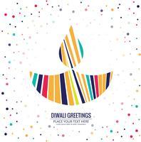 Creatieve kleurrijke festivalachtergrond voor gelukkig diwaliontwerp