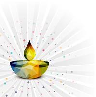 Elegante Gelukkige Diwali decoratieve kleurrijke vector als achtergrond