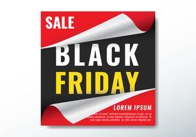 zwarte vrijdag wrap papieren banner vector