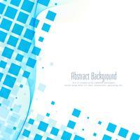 Abstracte blauwe mozaïek golvende achtergrond