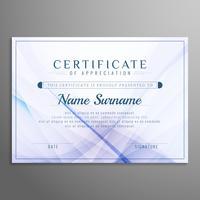 Abstracte stijlvolle golvende certificaat ontwerp achtergrond