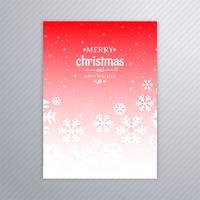 Mooie poster van sneeuwvlokken met abstracte desi van Kerstmis vector