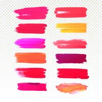 Schilderen de kleurrijke hand van de waterverf het ontwerpvector van de slagreeks vector