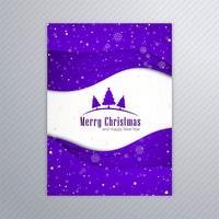 De mooie vrolijke affiche van de Kerstmiskaart met bac van het brochuremalplaatje vector