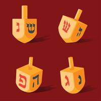 dreidel vector pack