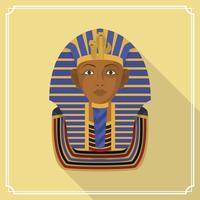 Flat Pharaoh figuur vectorillustratie vector