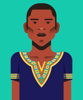 Man In Dashiki Illustratie vector