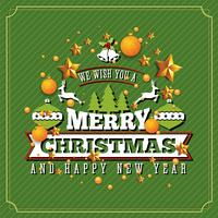Kerstmis en gelukkig Nieuwjaar achtergrond