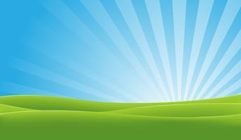 Groen en blauw landschap vector
