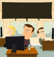Depressie op kantoor vector