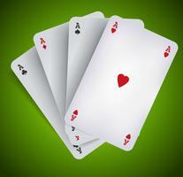 Poker Azen - Casino Gokken vector