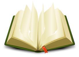 Bladwijzers en pagina's omslaan vector