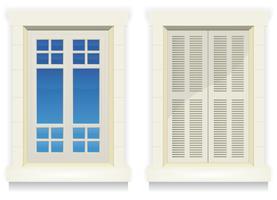 Home Window - Wakker en in slaap vector