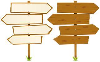 Pijlen houten bord