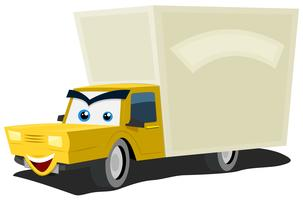 Cartoon bestelwagen karakter vector