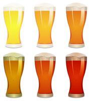 Pils, Amber en Stout Beers Set vector