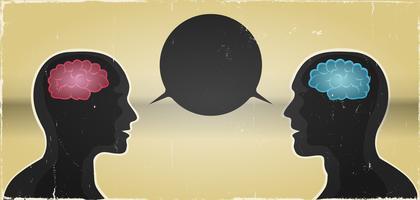Grunge man en vrouw communicatie achtergrond
