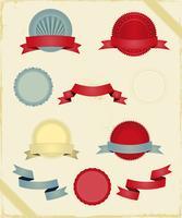 Vintage linten en banners serie vector
