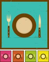 Grunge restaurant banner instellen vector