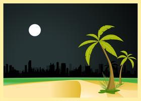 Stedelijk 's nachts strand