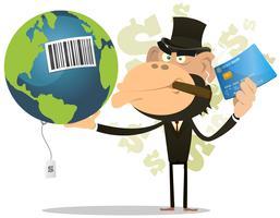 Aarde verkopen en kopen vector