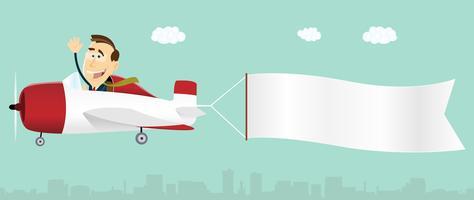 Banner Adverterend Vliegtuig vector