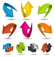 Kleurrijke Motion pijlen Set