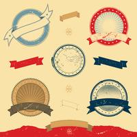 Grafische banner en pictogrammen collectie vector