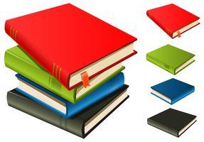 Stapel boeken - set en gescheiden vector